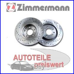 2 Zimmermann Sportbremsscheiben vorne Toyota Avensis T25 Corolla Verso