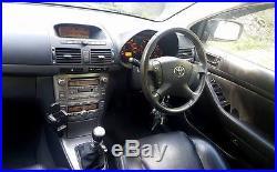 2006 Toyota Avensis 2.2 D-4d T Spirit Estate Tourer 5dr Silver Diesel Black Lthr