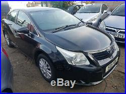 2011 toyota avensis 2.0 d4d spares or repair high mileage ex-taxi starts drive
