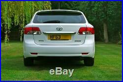 2013/63 Toyota Avensis Active D-4d Manual Diesel Estate White £30 Road Tax