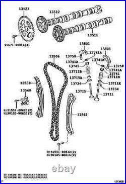 Genuine Timing Chain Kit Toyota Avensis, Auris, Rav-4, Lexus 2.0d4d 2.2d4d 1ad/2ad
