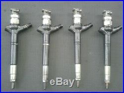 Set of x4 Toyota Auris Avensis 2.0 2.2 D4D Diesel Fuel Injectors 23670-0R190