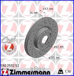 Sport Bremsscheiben Toyota Avensis T25 2.2 D 4D Cat 295x26mm vorne Zimmermann