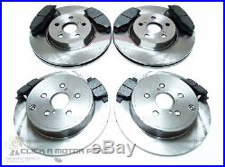 Toyota Avensis 2.2 D4d 2005-2008 Front & Rear Brake Discs And Pads Set New