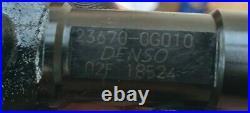 TOYOTA AVENSIS COROLLA RAV4 2.0 D4D INJECTORS DIESEL 23670-0G010 Set Of x 4