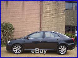 TOYOTA AVENSIS T3 X D-4D BLACK 5 DOOR DIESEL 6 SPEED NEW MOT AUCTION ONLY