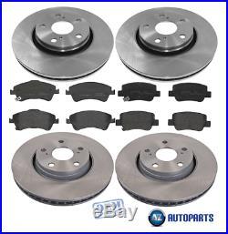 Toyota Avensis 1.6 1.8 2.0 D4D 2009-2015 Front & Rear Brake Discs & Pads Set