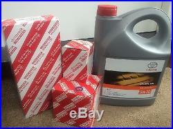 Toyota Avensis 2.0 D4d Air + Oil Filter + Fuel Filter +oil Service Kit 2006-2008