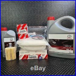 Toyota Rav4 Service Kit 2.2 D-4d Diesel Engine Genuine Oem 0w30 Oil 2012 To 2018