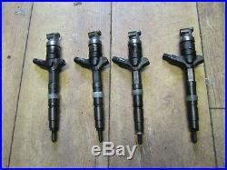 Toyota avensis 2.0 d4d set of 4 Fuel Injectors 23670-0g010 2003 2006