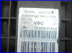Toyota avensis t27 2.0 d4d handbrake actuator 46300-05030 2012-2014