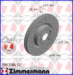 Zimmermann SPORT Bremsscheiben Satz Toyota Avensis (T25) 2.0 2.4 2.0D-4D vorne